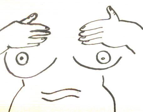 Gambar 2.2. Pengurutan buah dada berputar dari tengah ke samping